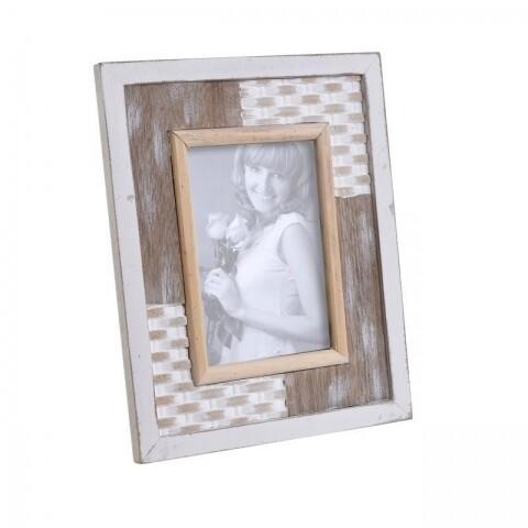 Rama foto Vintage Wood, InArt, 10 x 15 cm, lemn, bej/maro