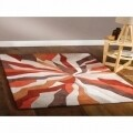 Covor Infinite Splinter Orange, Flair Rugs, 160 x 220 cm, 100% poliester, portocaliu/bej