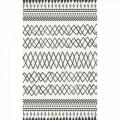 Covor rezistent Eko, EX 05 - White, Black, 100% poliester,  120 x 170 cm