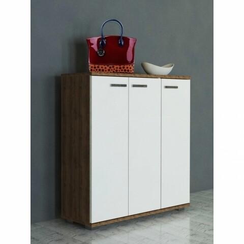 Pantofar Wooden Art, Sinem White Walnut, 89.1x29.5x93 cm