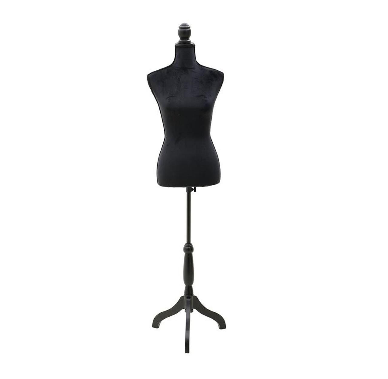 Manechin fix pentru prezentare design, 37,5Χ24Χ168 cm, InArt, Black