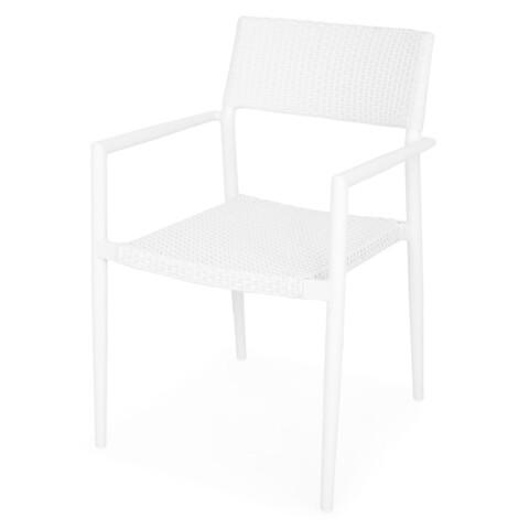 Scaun suprapozabil, Soria, 59.5 x 55 x 85.5 cm, aluminiu, alb
