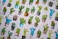 Fata de masa Cactus, Il Maggiolino, 140 x 240 cm, 80% bumbac si 20% poliester, multicolora