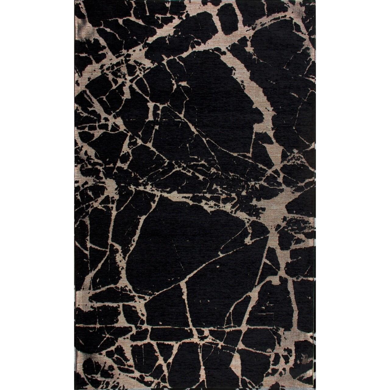 Covor rezistent Eko, SM 21 - Black, Gold XW, 100% acril,  160 x 230 cm