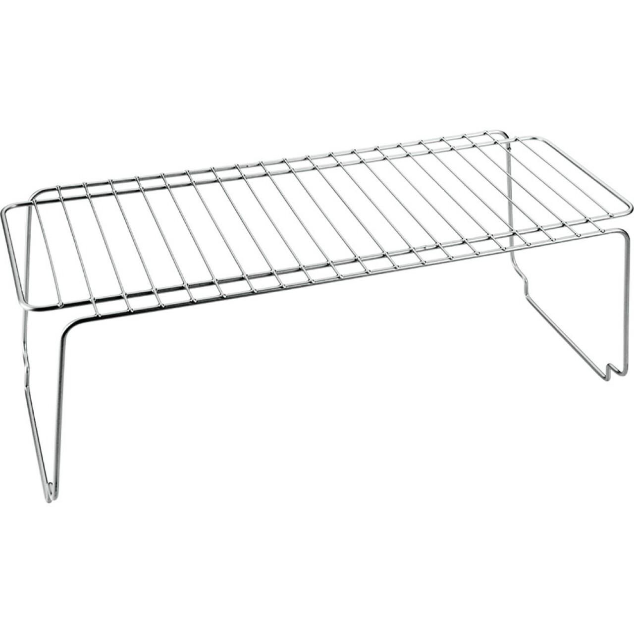 Etajera Polo, Metaltex, 45x19x18 cm, metal, argintiu
