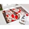 Covor Infinite Blossom Red, Flair Rugs,  80 x 150 cm, 100 % poliester, rosu/bej/crem
