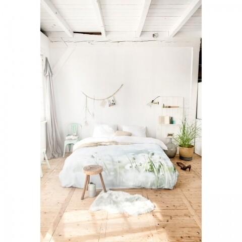Lenjerie de pat pentru două persoane Summer Morning Meadow Green, Royal Textile, 100% bumbac organic