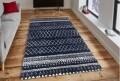Covor rezistent Eko, EX 05 - Navy, White, 100% poliester,  200 x 290 cm