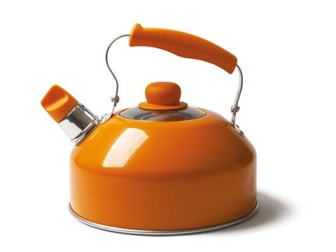 Ceainic cu fluier, Pop Cook, Color Life, 2 L, aluminiu, portocaliu