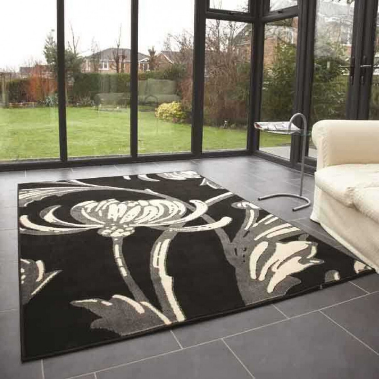 Covor Loretta Grey/Black 120x160 cm