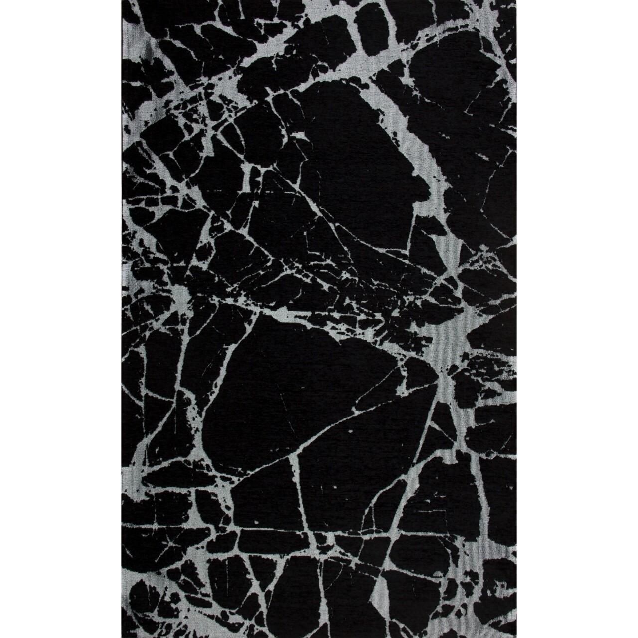 Covor rezistent SM 21 - Black, Silver XW, 160x230 cm