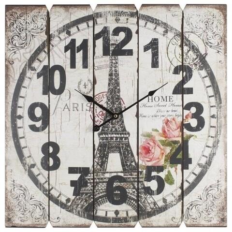 Ceas de perete InArt, 58x58 cm, lemn, Paris