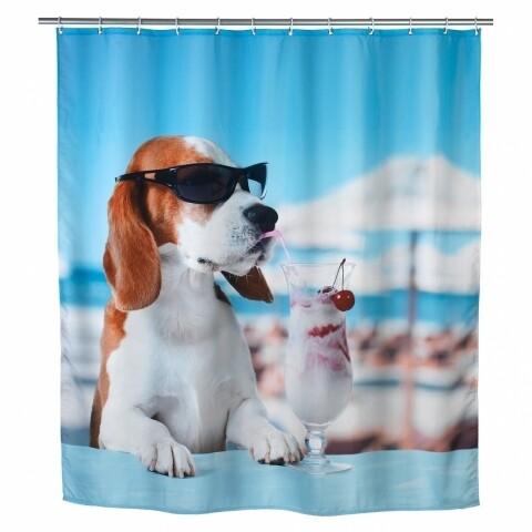 Perdea de dus Cool Dog, Wenko, 180x200 cm,  100% poliester, multicolor