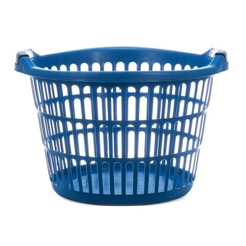 Cos de rufe rotund, Vanora, 35 L, plastic, albastru
