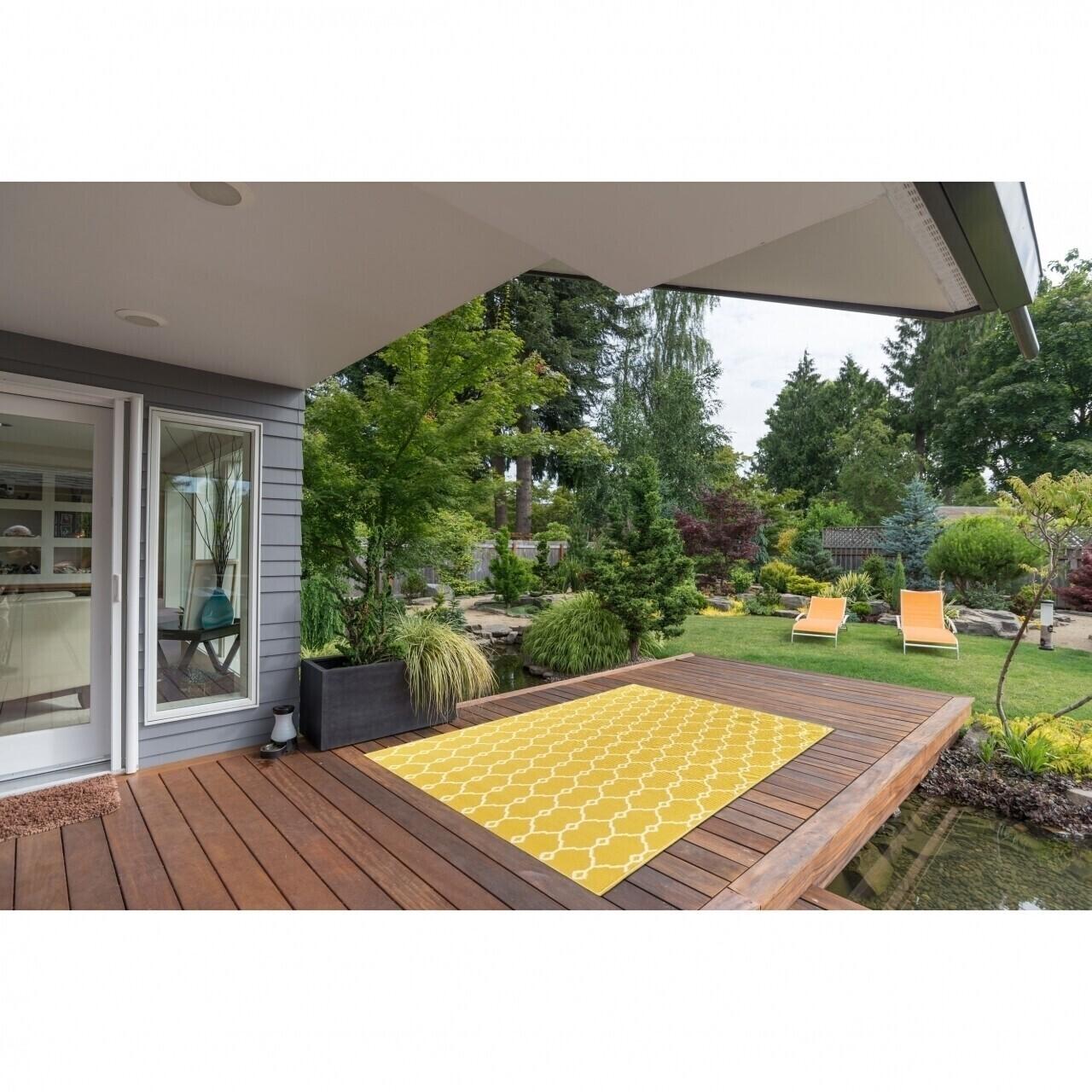 Covor indoor outdoor Floorita TRELLIS YELLOW 133X190