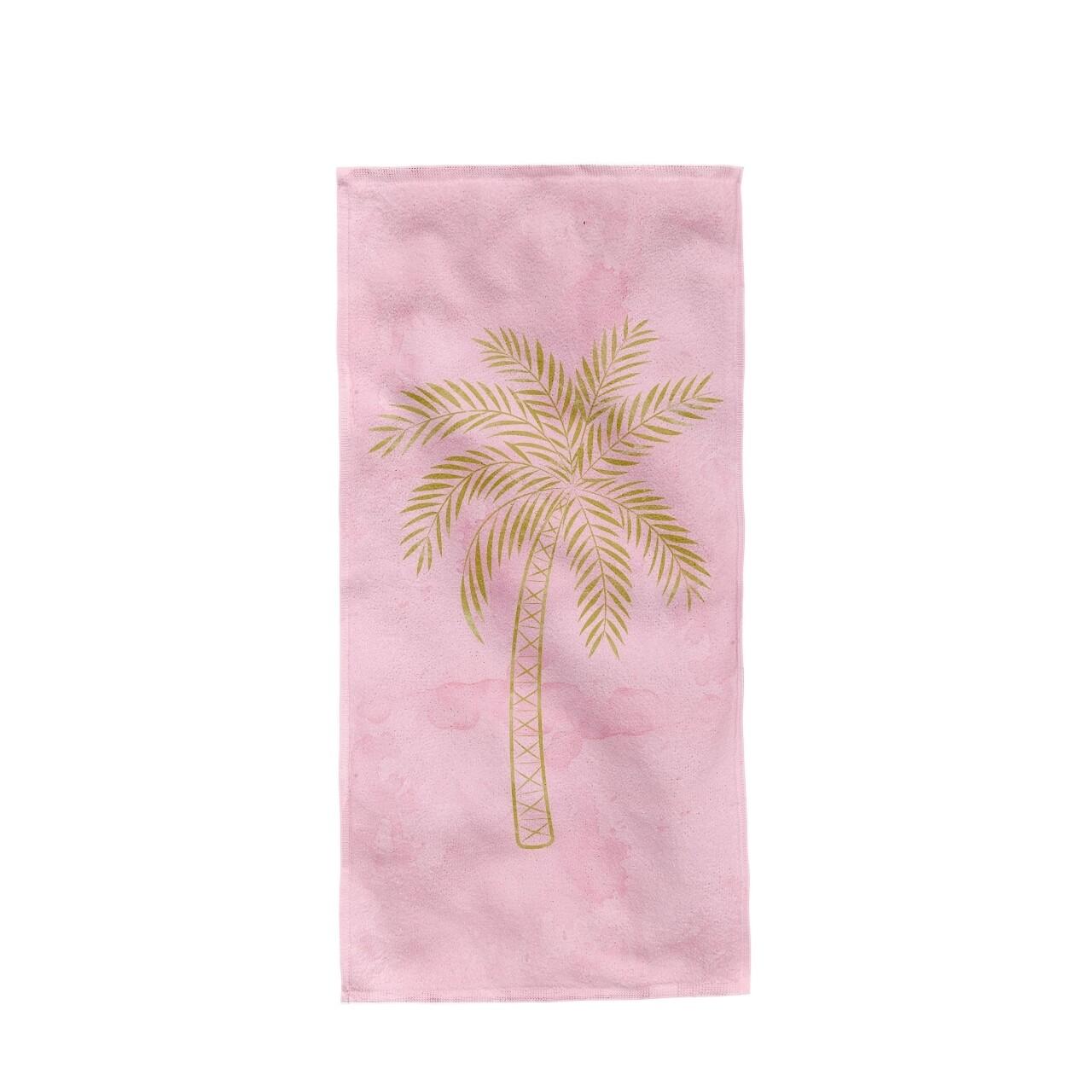 Prosop de plaja Palm Tree, Aglika, 80 x 160 cm, 50% bumbac/ 50% poliester, multicolor