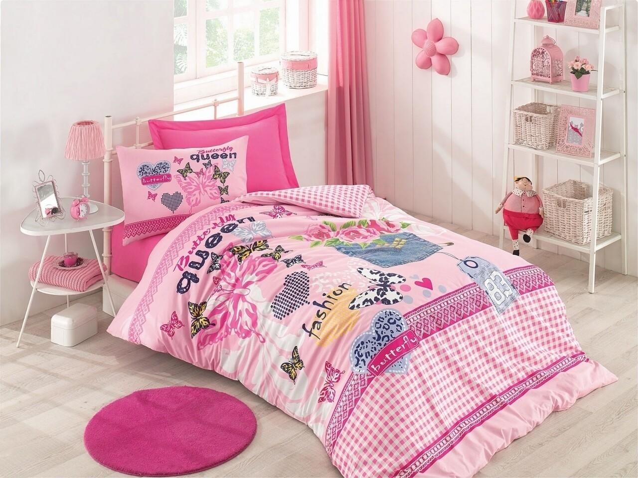 Lenjerie de pat pentru o persoana, 3 piese, 100% bumbac ranforce, Cotton Box, Queen