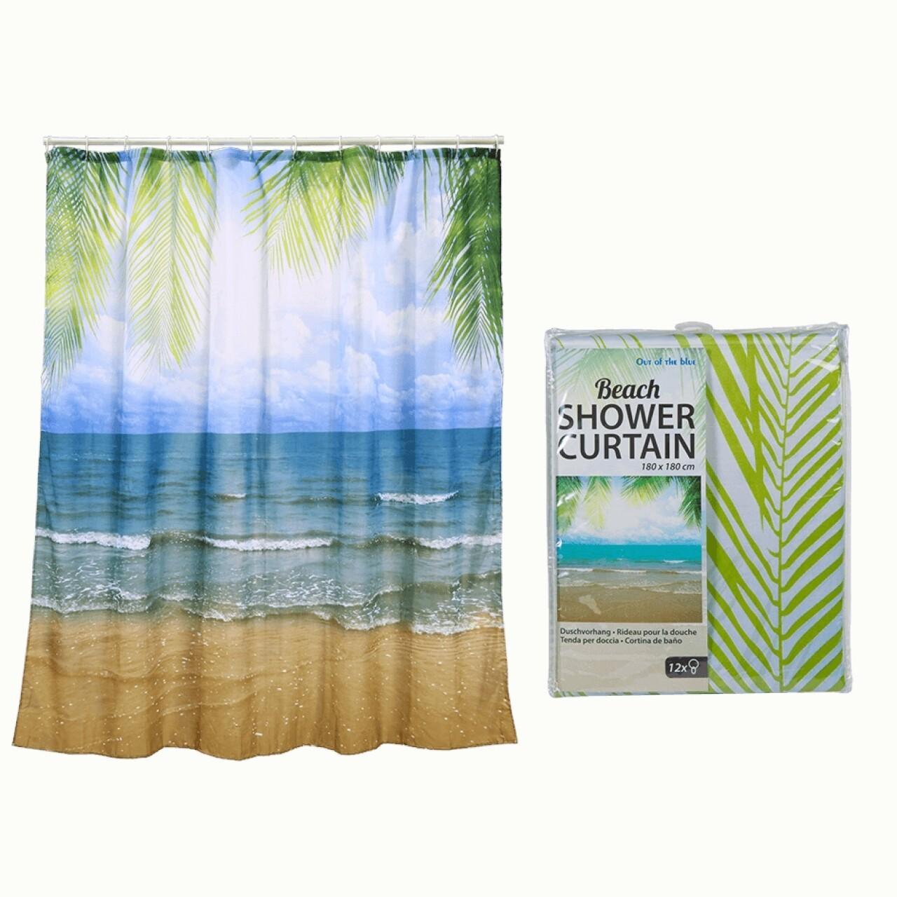 Perdea de dus Let's go to the beach, 180x180 cm, plastic