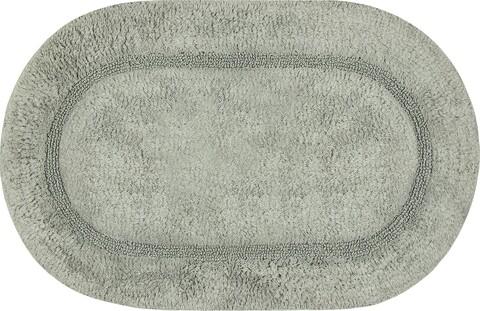 Covoras pentru baie, Olivio Tappeti, Ariel, 45 x 75 cm, 100% bumbac, gri