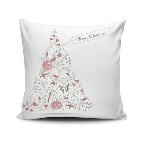 Perna decorativa, Christmas NOELKRLNT-16, 43x43 cm, policoton, multicolor