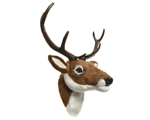 Decoratine de perete Deer, Decoris, poliester, maro