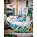 Lenjerie de pat dubla Jungle, Aglika, 3 piese, 200 x 220 cm, 100% bumbac, multicolora