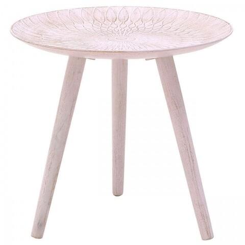 Masuta de cafea InArt, 44x40 cm, Pink