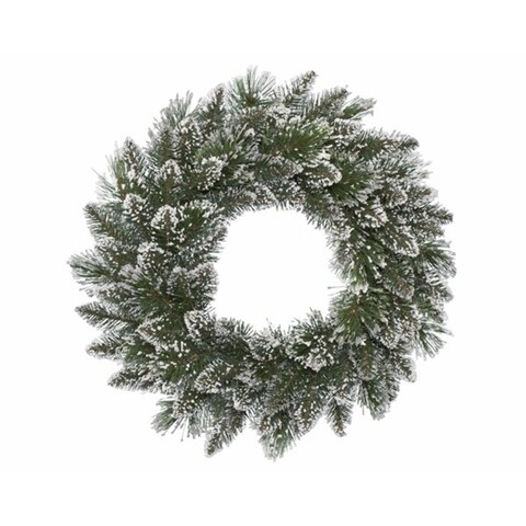 Coronita Finley wreath, Decoris, Ø 20 cm, verde/alb