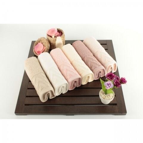 Set 6 prosoape Blush, 30 x 50 cm, roze