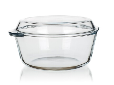 Vas de copt cu capac Round, Pasabahce, sticla borosilicata, 2.17 L