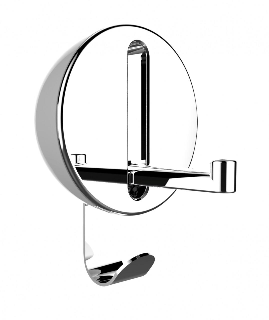 Agatatoare cuier pliabil Premium Delta, WENKO, 8 x 2.5 x 12 cm, metal cromat/plastic/magnet, alb/argintiu