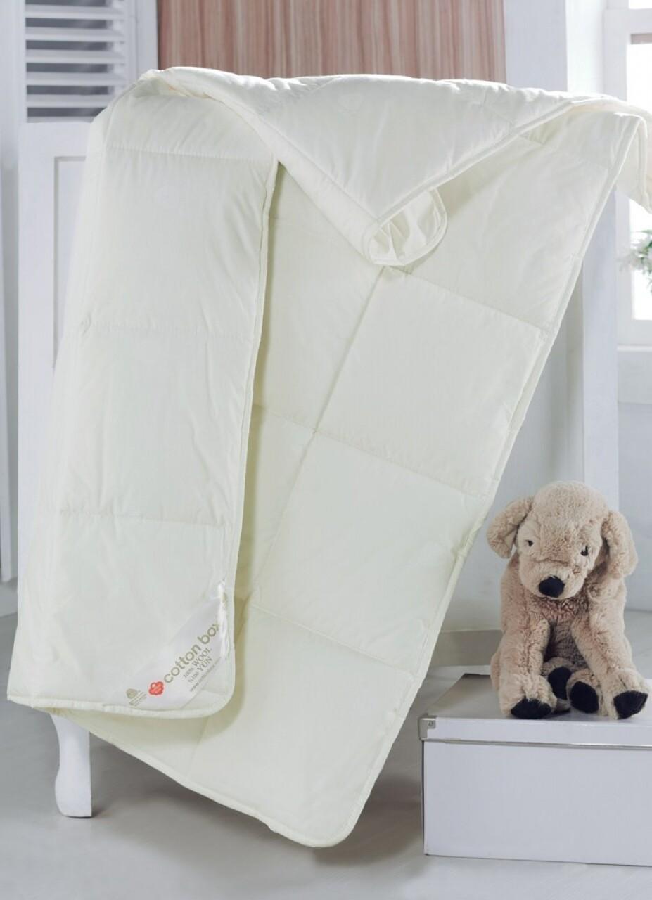 Pilota de pat pentru copii din 100% bumbac, 95x145 cm, Cotton Box, ecru