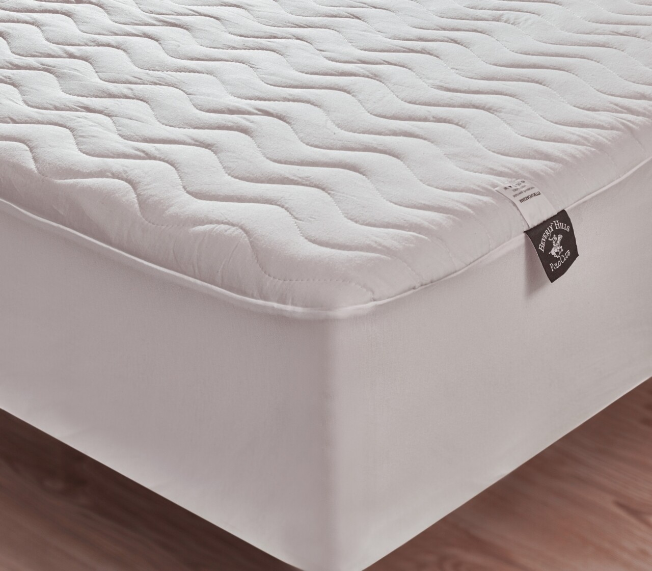 Husa protectie de pat dublu, 180x200 cm, 100% bumbac, Beverly Hills Polo Club, White