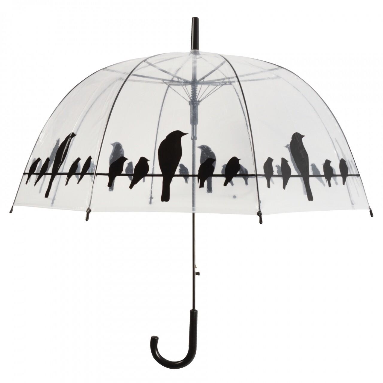 Umbrelă transparentă Birds