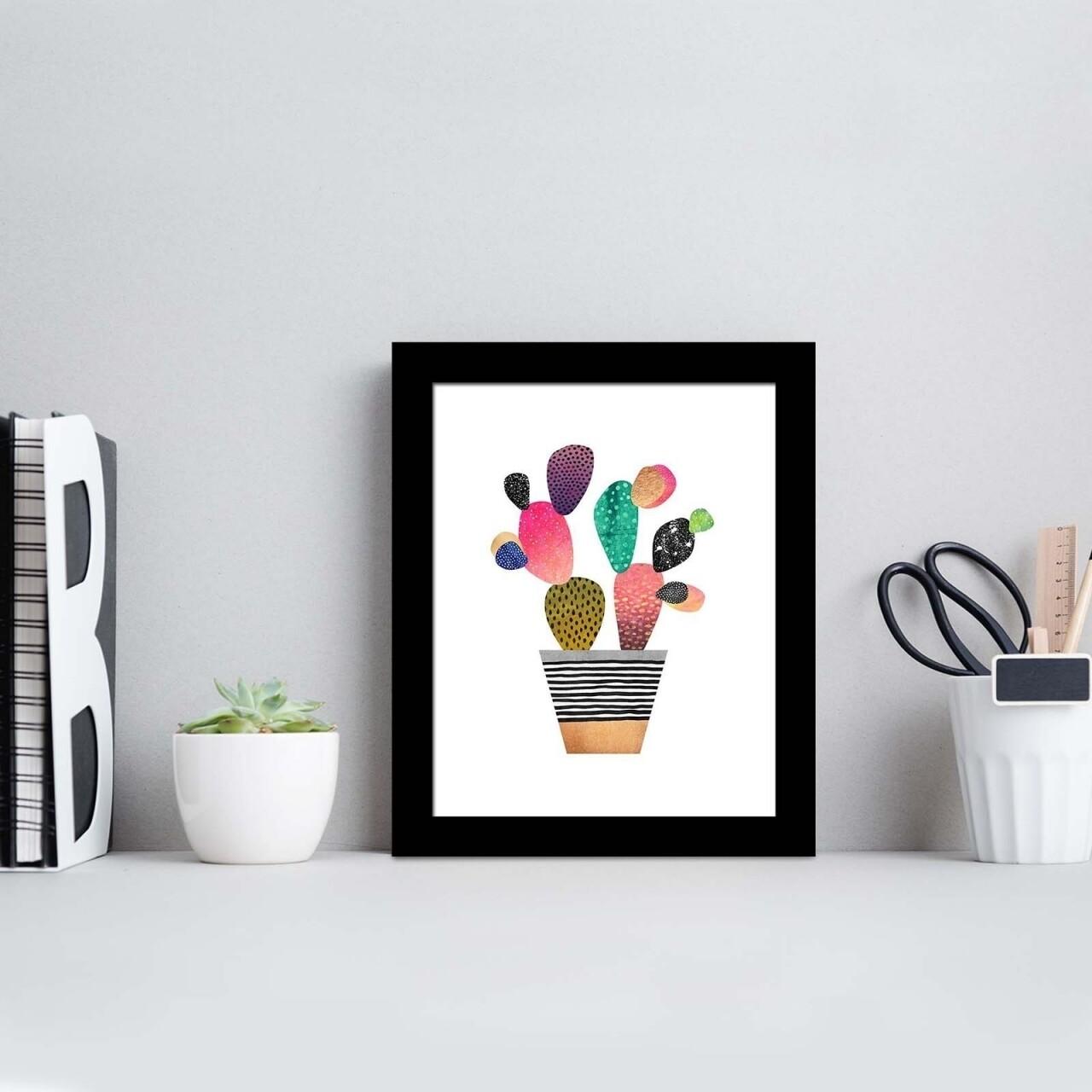 Tablou decorativ, Alpha Wall, Cactus, 23x28 cm