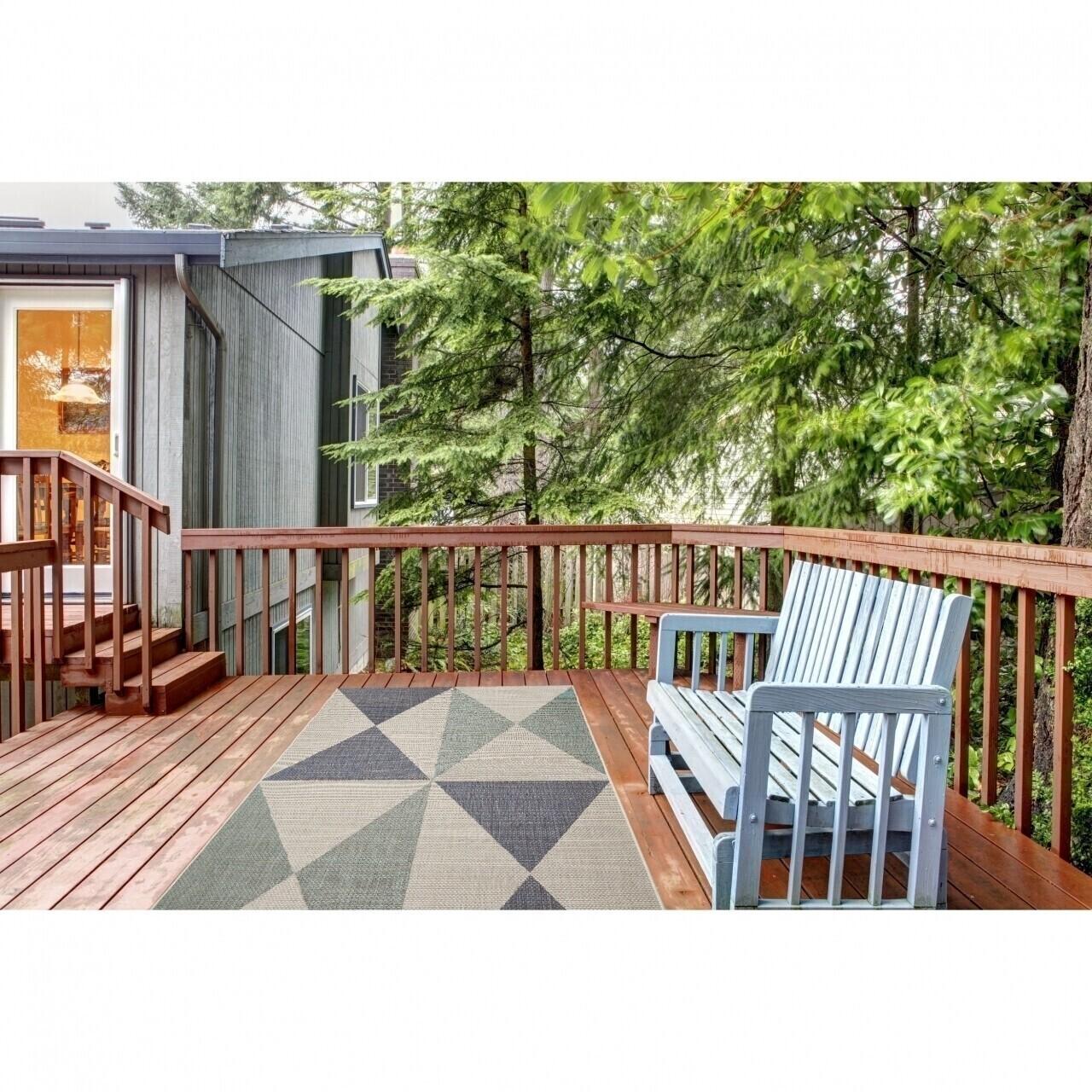 Covor indoor outdoor Floorita GEO BLUE AQUA 160X230