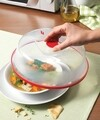 Capac farfurie pentru cuptorul cu microunde, Snips, 26 cm Ø, polipropilena