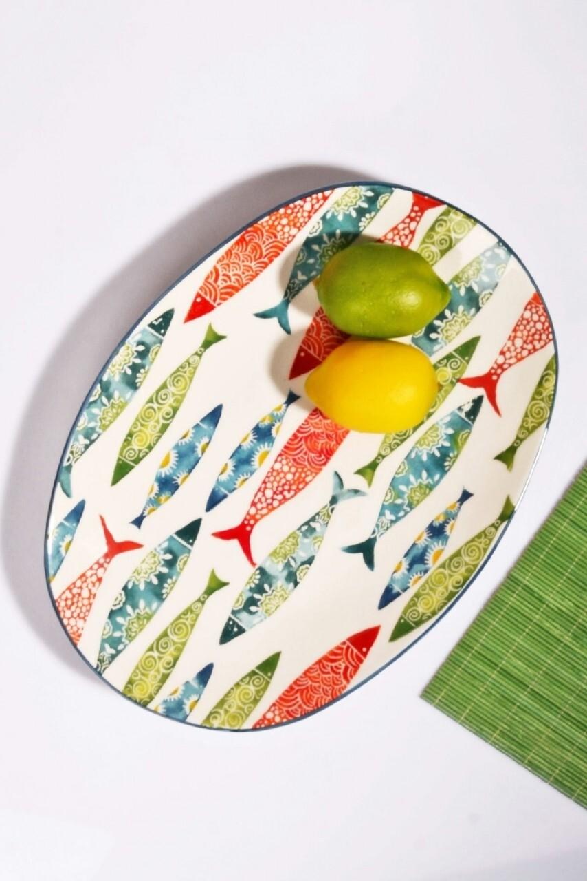 Platou, Kosova, Multicolor, ceramica, 30 cm