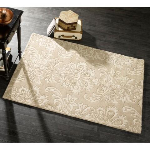 Covor Decotex Ornate Beige, Flair Rugs, 120 x 170 cm, 100% lana, bej