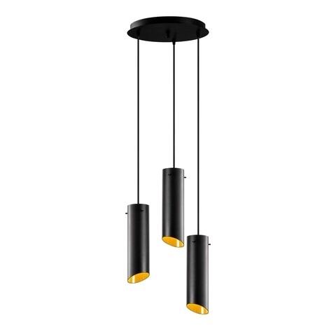 Lustra Sivani MR - 979, Opviq, 35 x 114 cm, 3 x E27, 100W, negru/galben