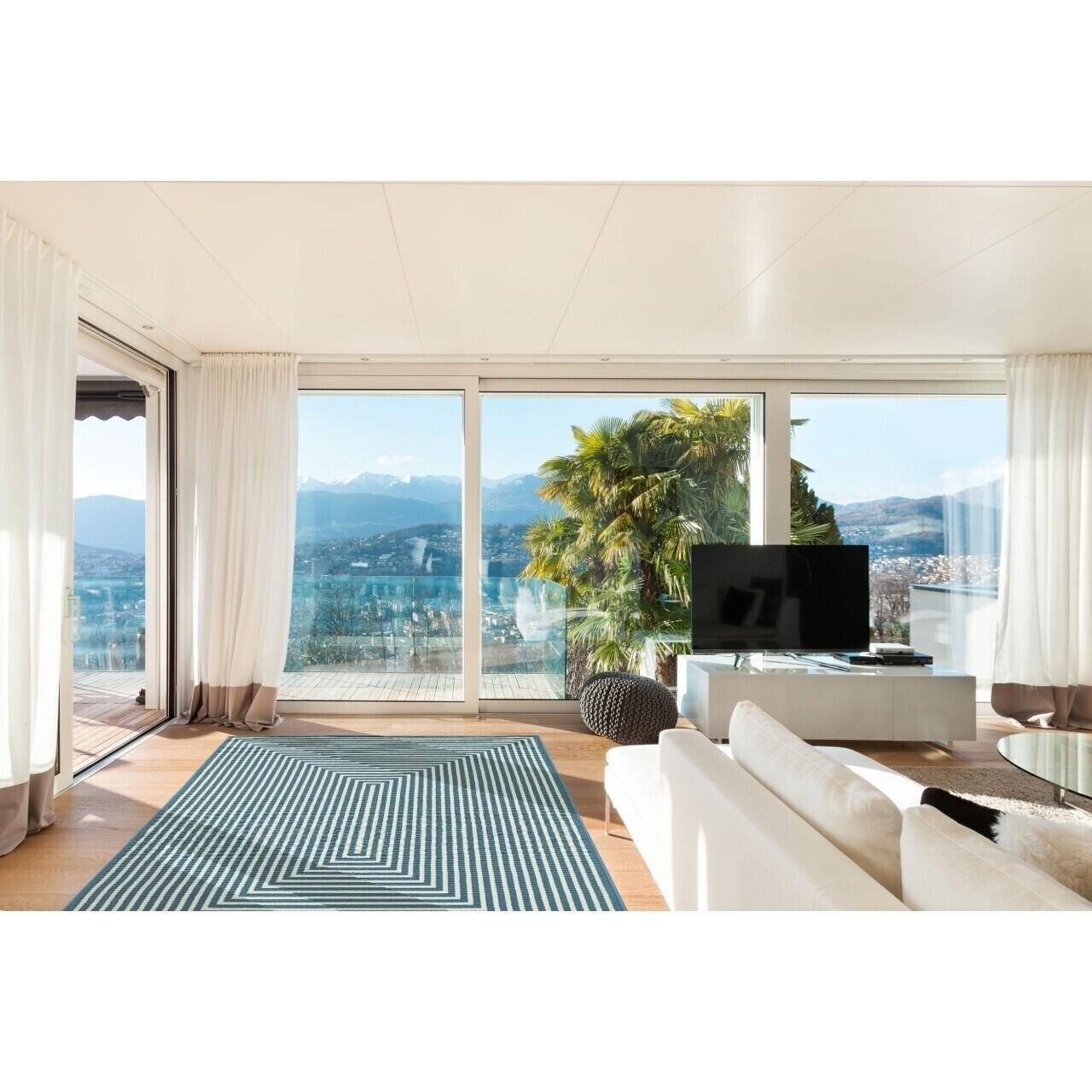 Covor indoor outdoor Floorita BRAID LIGHT BLUE 133X190