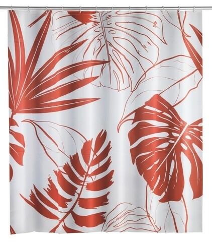 Perdea de dus Brasil Coral, Wenko, 180x200 cm,  100% poliester, multicolor
