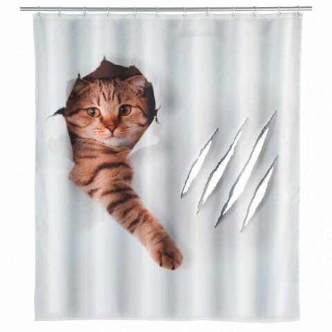 Perdea de duș, Wenko Cute Cat, 180x200 cm