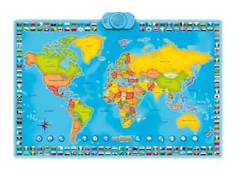 Harta interactiva a lumii bilingv romana