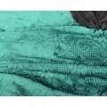 Lenjerie de pat pentru două persoane Maurice Blue, Primaviera Deluxe, 100% bumbac satinat