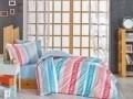 Lenjerie de pat pentru o persoana, 3 piese, 100% bumbac poplin, Hobby, Sweet Dreams, roz/albastru