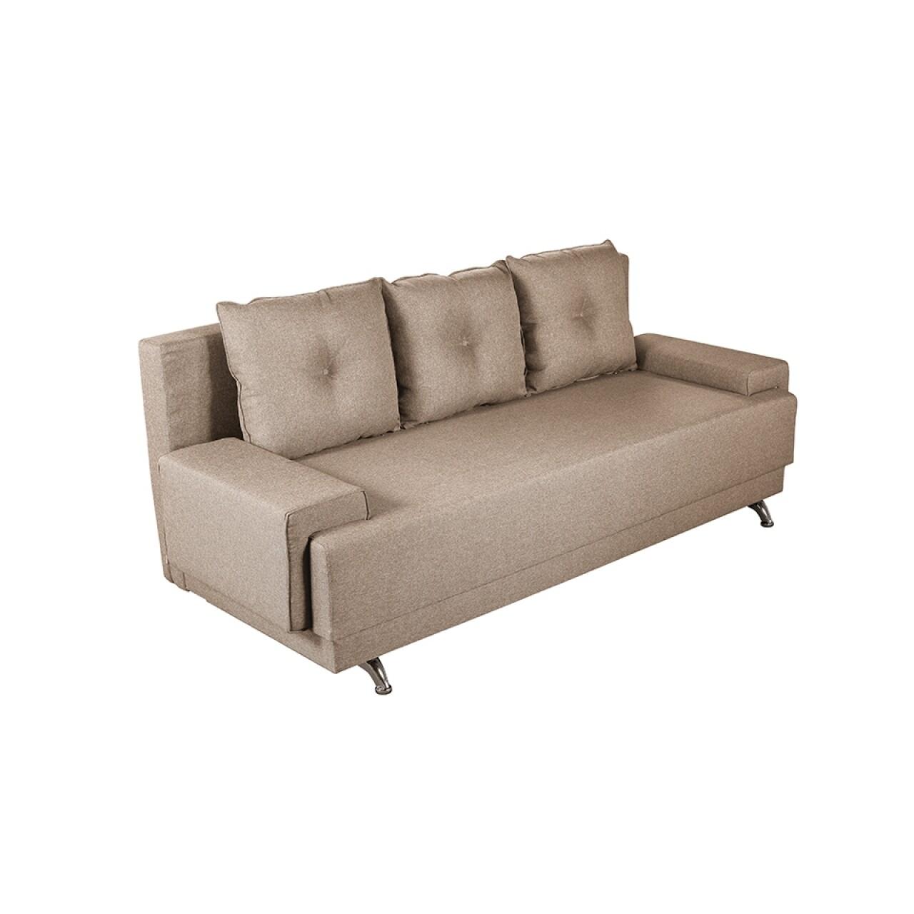 Canapea extensibila Roma Lux Beige 205x90x86 cm + ladă de depozitare, bej
