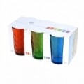 Set 6 pahare Rainbow, 240 ml, sticla, multicolor