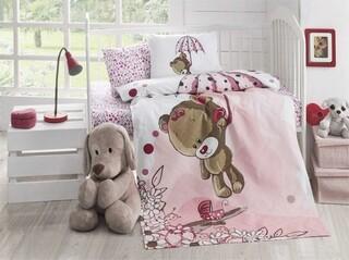 Cuvertura de pat pentru copii, Patik, Ton Ton, 95x145 cm, 100% bumbac, 245 gr/m², multicolor