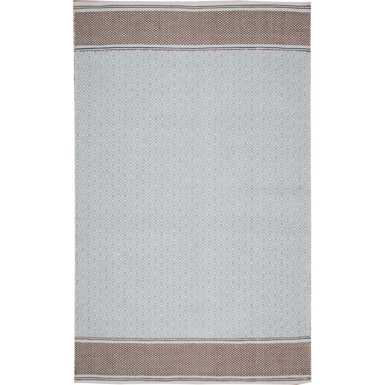 Covor rezistent Eko, 9027 - Blue, Grey, 100% bumbac,  120 x 180 cm